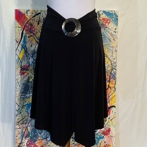 Cache black asymmetrical skirt.